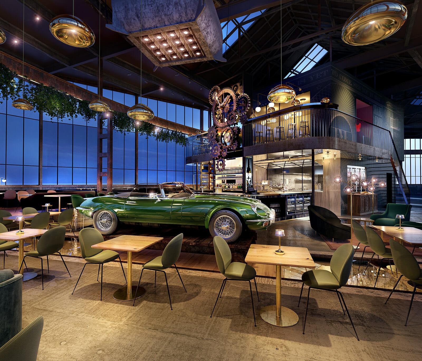 Optic Media 3D visualisatie | 3D interieur visualisatie restaurant ...